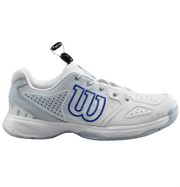 Кроссовки детские Wilson KAOS JUNIOR QL WHITE/PEARL BLUE  WRS325420  sp19 - фото 11239
