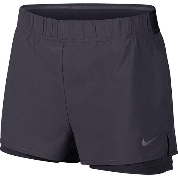 Шорты женские Nike Court Flex Gridiron  939312-015  fa19 - фото 12292