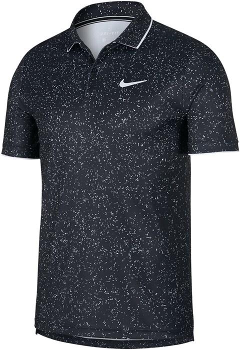Поло мужское Nike Court Dry Graphic Black/White  AT4148-010  fa19 - фото 12543