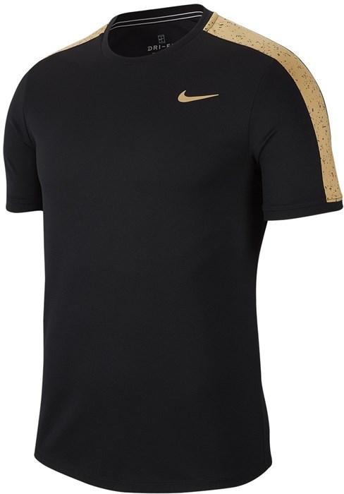 Футболка мужская Nike Court Graphic Crew Black/Metallic Gold  AT4305-011  ho19 - фото 15131