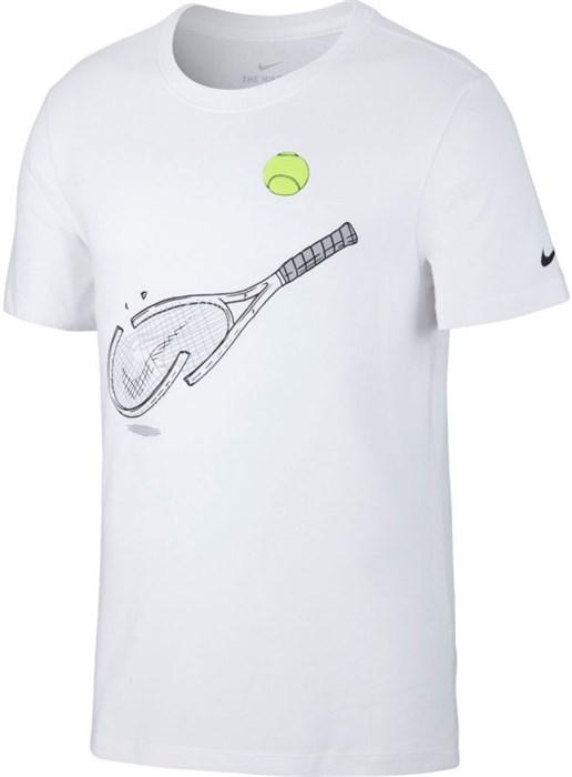 Футболка мужская Nike Court Dry Graphic White  CQ2416-100  sp20 - фото 16122