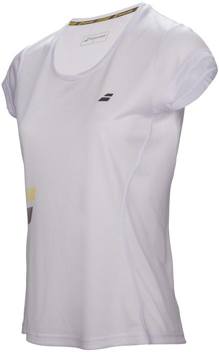 Футболка для девочек Babolat Core Flag Club White  3GS17011-101 - фото 16368