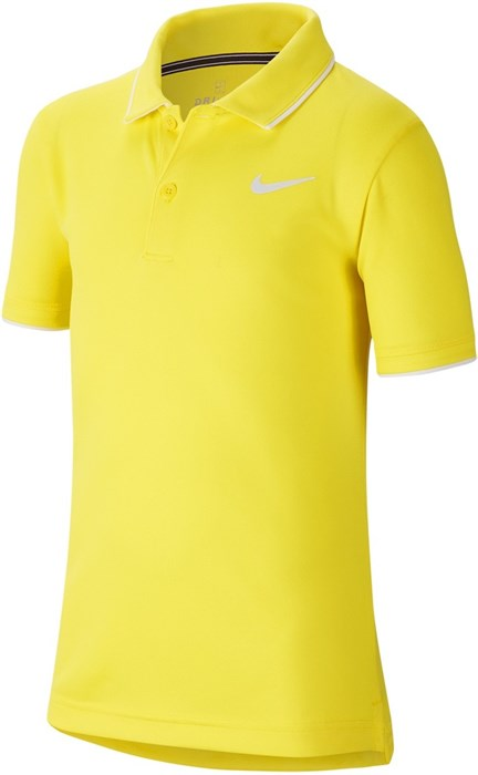Поло для мальчиков Nike Court Dry Team Opti Yellow/White  BQ8792-731  sp20 - фото 16800