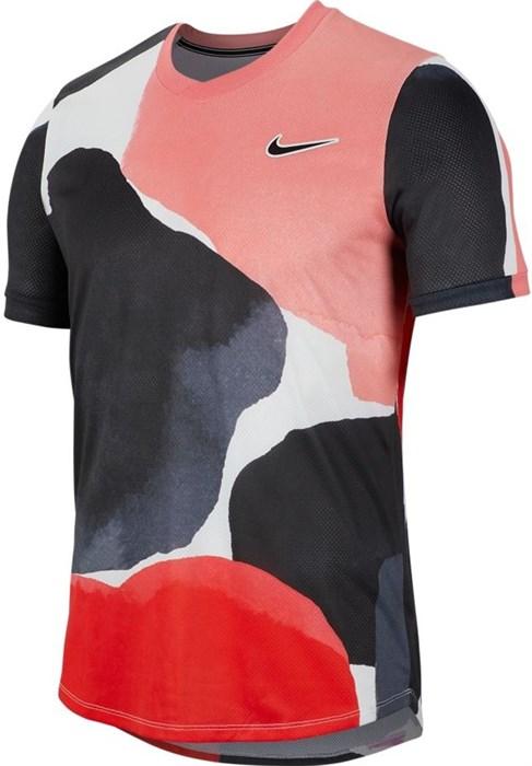 Футболка мужская Nike Court Challenger Melbourne Crew Gridiron/White/Off Noir  BV0787-015  sp20 - фото 17249