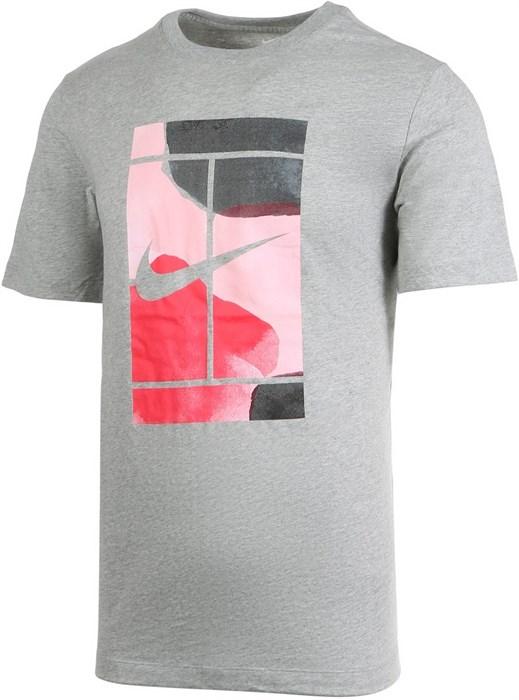 Футболка мужская Nike Court Swoosh Dark Grey  CQ2422-063  sp20 - фото 17289
