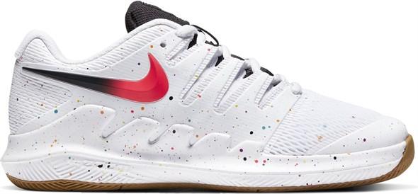 Кроссовки детские Nike Vapor X Junior White/Laser Crimson/Oracle Aqua  AR8851-108  sp20 - фото 17631