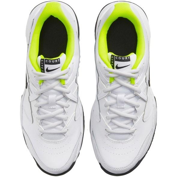 Кроссовки детские Nike Court Lite 2 White/Black/Volt  CD0440-104  sp20 - фото 17650