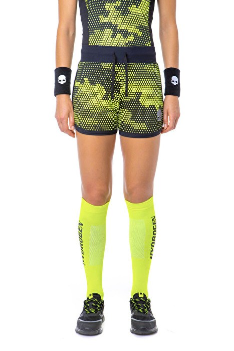 Шорты женские Hydrogen Tech Camo Fluo Yellow/Black  T01006-D74 - фото 18463