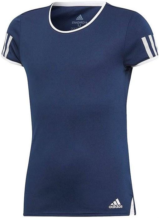 Футболка для девочек Adidas Club Navy/White  DU2466 - фото 19250