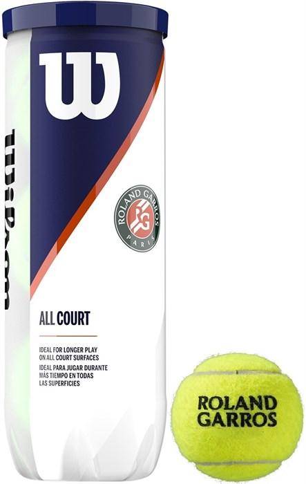 Мячи теннисные Wilson Roland Garros All Court 3 Balls  WRT126400 - фото 19397