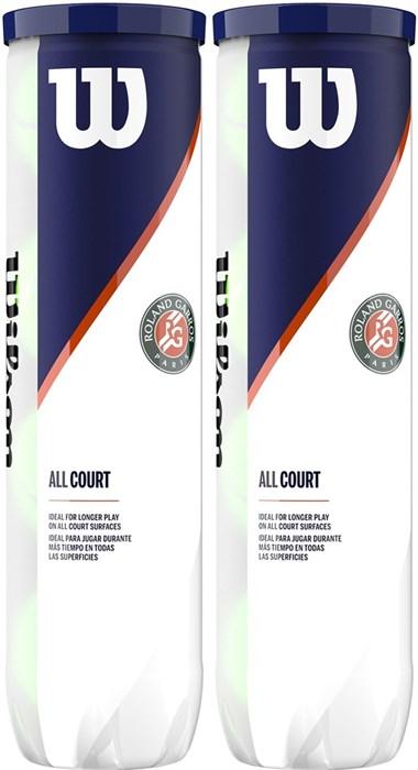 Мячи теннисные Wilson Roland Garros All Court (4X2) Balls  WRT116402 - фото 19409