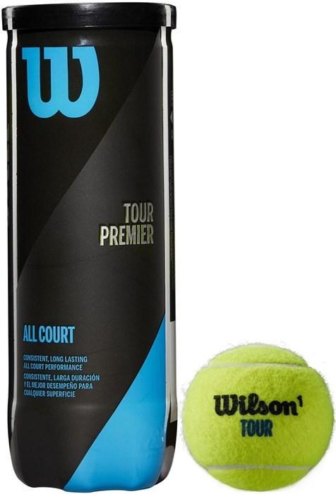 Мячи теннисные Wilson Tour Premier All Court 3 Balls  WRT109400 - фото 19570