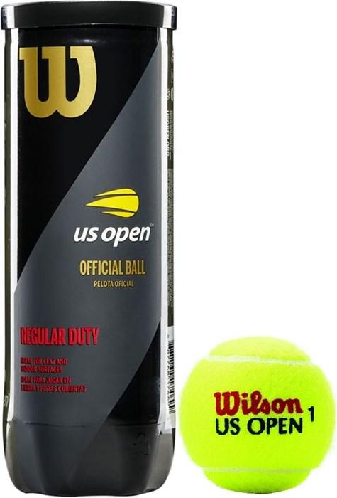 Мячи теннисные Wilson US Open Regular Duty 3 Balls  WRT107300 - фото 19572