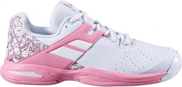 Кроссовки детские Babolat Propulse All Court White/Geranium Pink  32/33S20478-1040 - фото 20304
