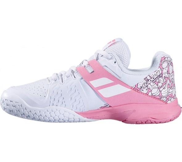 Кроссовки детские Babolat Propulse All Court White/Geranium Pink  32/33S20478-1040 - фото 20305