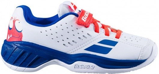 Кроссовки детские Babolat Pulsion All Court Kid White/Dazzling Blue  32S20518-1044 - фото 20316