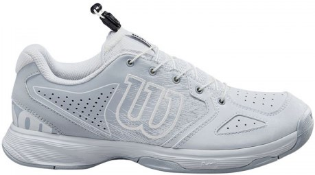Кроссовки детские Wilson KAOS JUNIOR QL White/Pearl Blue/Black  WRS326340  su20 - фото 21496