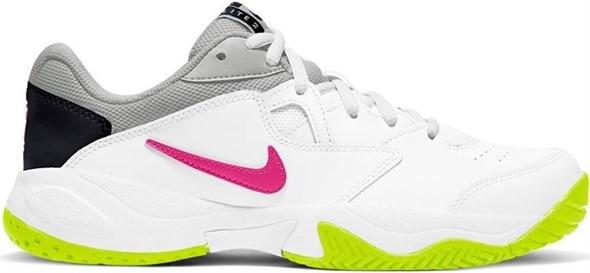 Кроссовки женские Nike Court Lite 2 White/Hot Lime/Fuchsia  AR8838-107 - фото 22035
