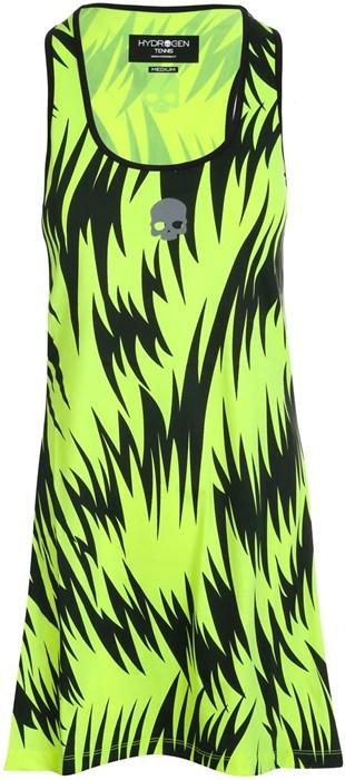 Платье женское Hydrogen Scratch Fluo Yellow/Black  T01410-724 - фото 22389