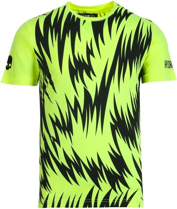 Футболка мужская Hydrogen Scratch Tech Fluo Yellow/Black  T00414-724 - фото 22448