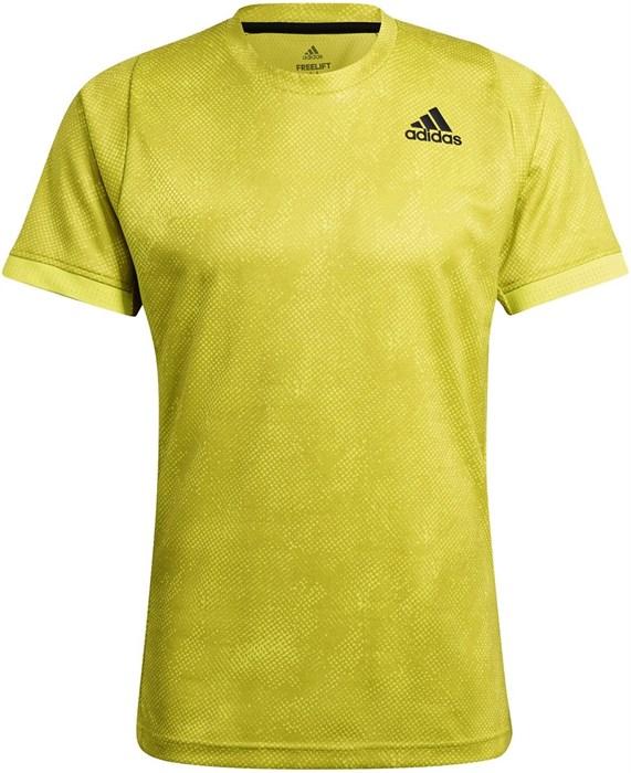 Футболка мужская Adidas Freelift Printed Primeblue Acid Yellow/Wild Pine/White  GQ2221  sp21 - фото 22547