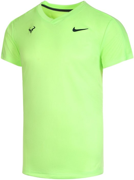 Футболка мужская Nike Court Rafa Challenger Lime Glow/Obsidian  CV2572-345  sp21 - фото 24006