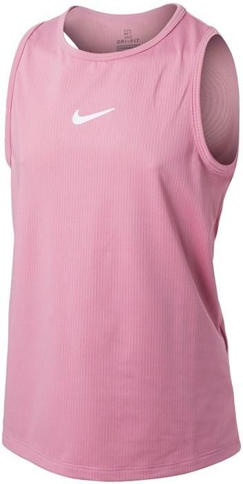 Майка для девочек Nike Court Dry Victory Elemental Pink/White  CV7573-698  sp21 - фото 24078