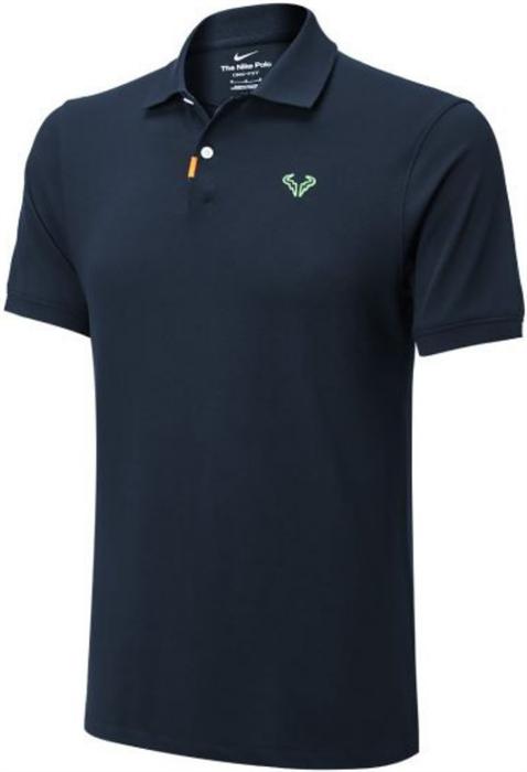 Поло мужское Nike Rafa Polo Slim Obsidian/Lime Glow  CV2969-451  sp21 - фото 24113