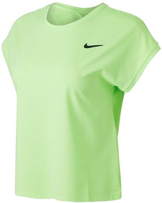 Футболка женская Nike Court Dri-Fit Victory Lime Glow/Black  CV4790-345  sp21 - фото 24124
