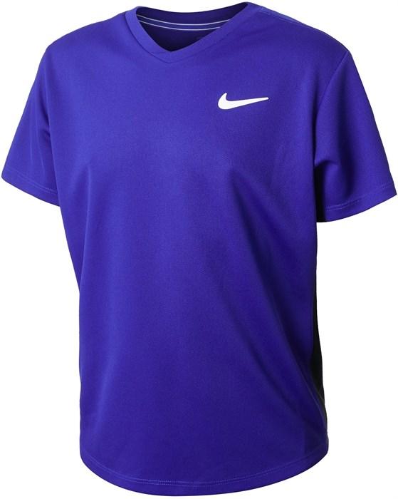Футболка для мальчиков Nike Court Dry Victory Concord/Black/White  CV7565-471  sp21 - фото 24130