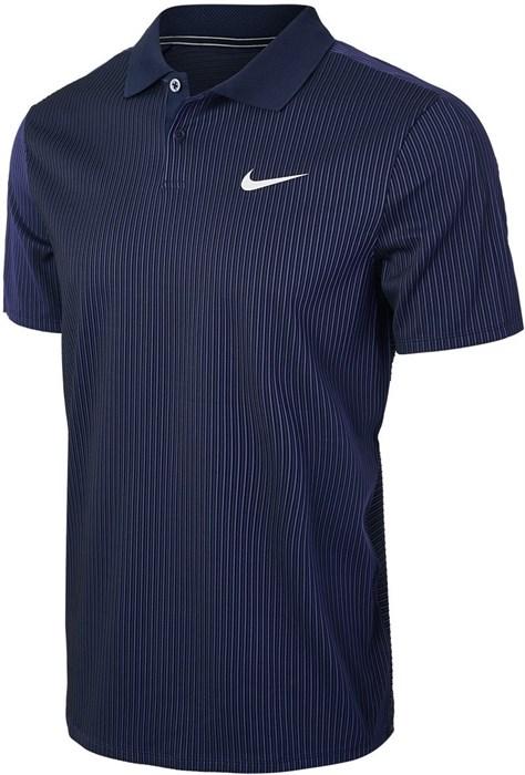 Поло мужское Nike Court Advantage Obsidian/White  CV2863-451  su21 - фото 24503
