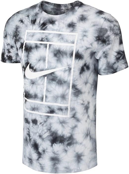 Футболка мужская Nike Court Heritage Tie-Dye White/Black  DD2238-100  su21 - фото 24513