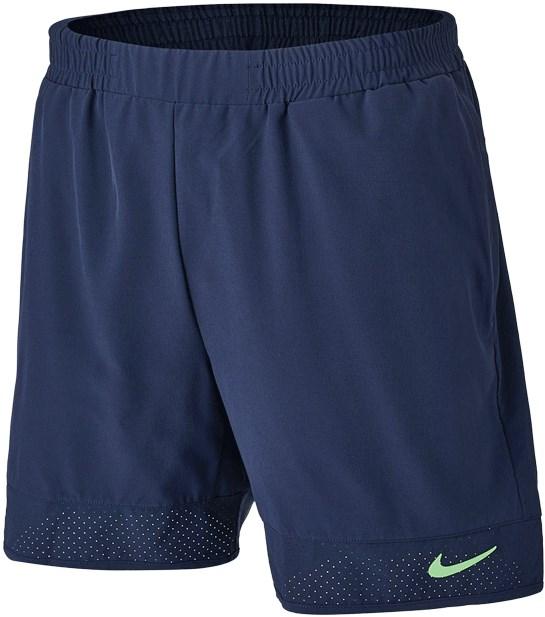Шорты мужские Nike Advantage Rafa 7 Inch Obsidian/Lime Glow  CV7873-451  su21 - фото 24514