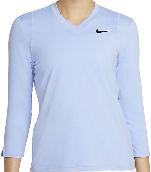 Футболка женская Nike Court Dri-Fit UV Victory 3/4 Aluminium/Black  DA4730-468  fa21 - фото 24737