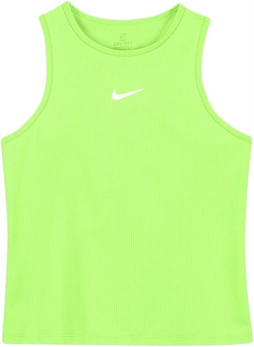 Майка для девочек Nike Court Dri Fit Victory Lime Glow/White  CV7573-345  fa21 - фото 24756
