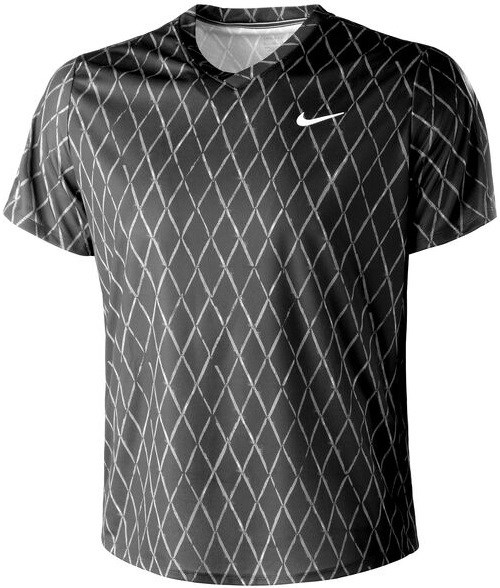 Футболка мужская Nike Court Dry Victory Printed Black/White  DA4366-010  fa21 - фото 24777