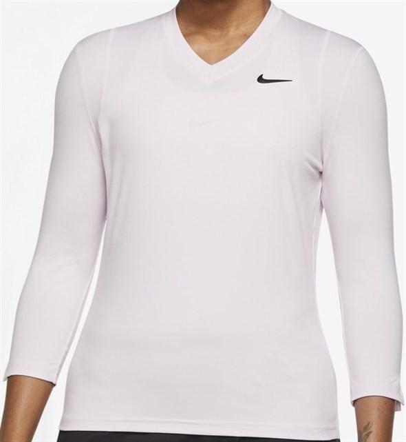 Футболка женская Nike Court Dri Fit UV Victory 3/4 Regal Pink/Balck  DA4730-695  fa21 - фото 24780