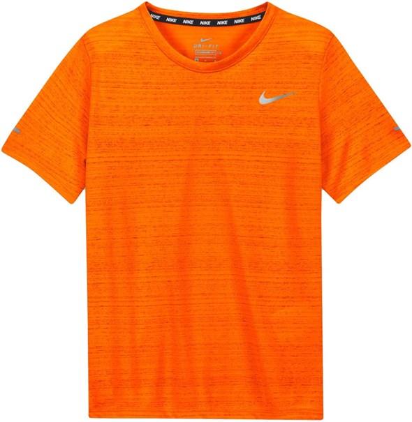 Футболка для мальчиков Nike Dri Fit Miler Orange  DD3055-803  fa21 - фото 24798