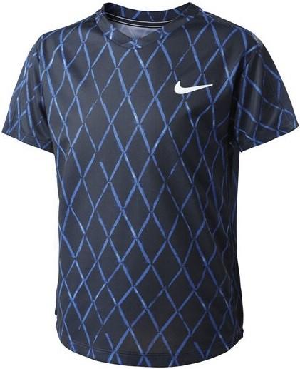 Футболка для мальчиков Nike Court Dri Fit Victory Obsidian/White  DA4378-451  fa21 - фото 24812