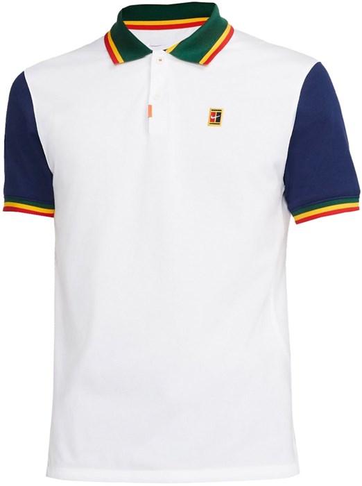 Поло мужское Nike Heritage Slim White/Binary Blue  DA4379-100  fa21 - фото 24815