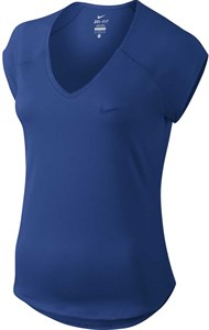 Футболка женская Nike Court Pure V Neck Indigo Force  728757-438  sp19