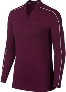 Футболка женская Nike Court Dry 1/2 Zip Bordeaux/White  939322-609  fa18