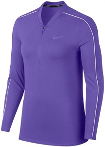 Футболка женская Nike Court Dry 1/2 Zip Psychic Purple/White  939322-550  fa19