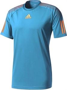 Футболка для мальчиков Adidas Barricade Light Blue/Orange  BJ8228  sp17