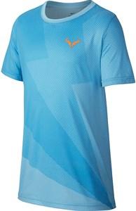Футболка для мальчиков Nike Court Rafa Graphic Blue  AR2384-433  su19