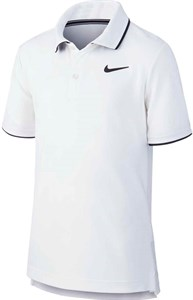 Поло для мальчиков Nike Court Dry Team White/Black  BQ8792-100  su19