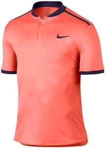 Поло для мальчиков Nike Court Advantage Solid Fluo Orange/Navy  848215-890  fa16