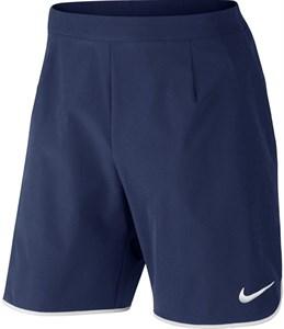 Шорты мужские Nike Court Gladiator Flex 9 Inch Midnight Navy/White  728980-410  sp16
