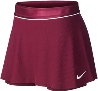 Юбка женская Nike Court Dry Flouncy Bordeaux/White  939318-609  ho19