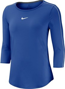 Футболка женская Nike Court 3/4 Sleeve Game Royal/White  AQ7658-480  fa19